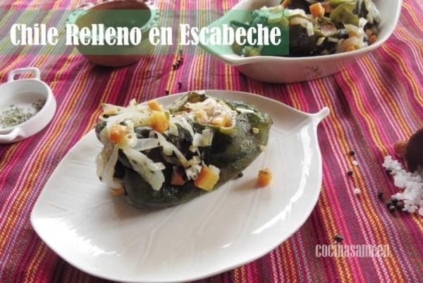 Chile Relleno de Atún en Escabeche: Receta sencilla y fresca