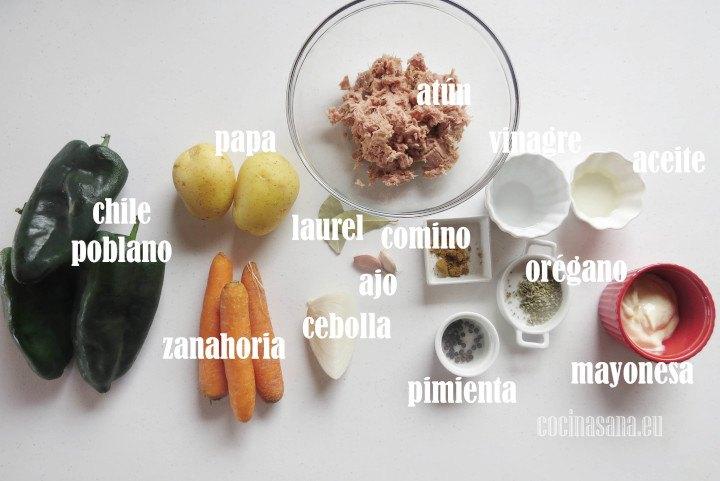 Ingredientes para los Chiles Rellenos