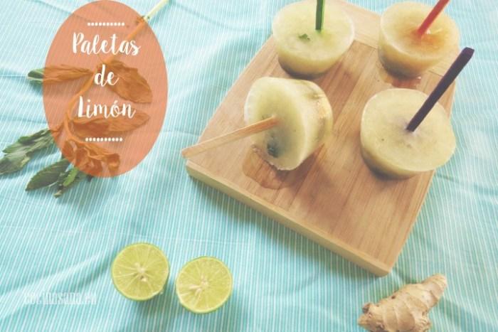 Paletas de Limón, Hierbabuena y Miel