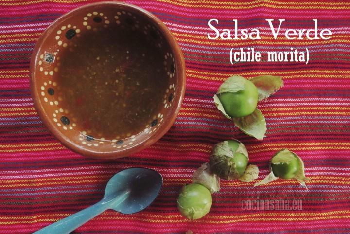 Salsa verde chile Morita