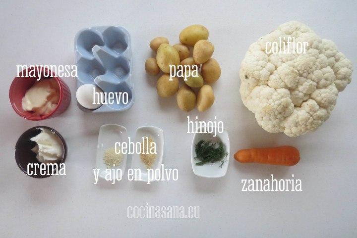 Ingredientes para la Receta de Ensalada de Coliflor