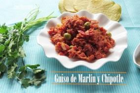 Guiso de Marlín con Tomate y Chipotle. Receta fácil para untar