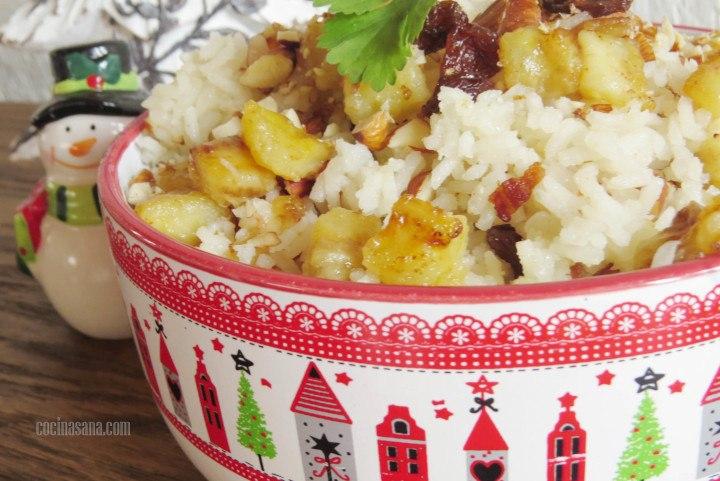 arroz con pasas