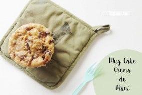 Mug Cake de Cacahuete Sin Huevo. Delicioso y fácil con microondas