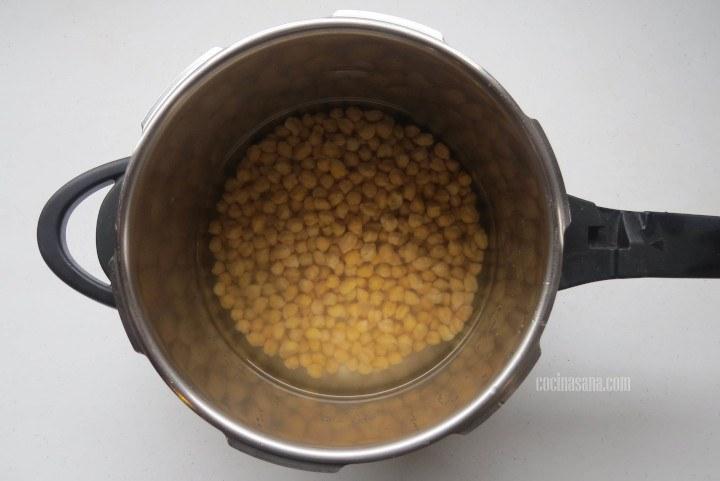 cocinar los garbanzos