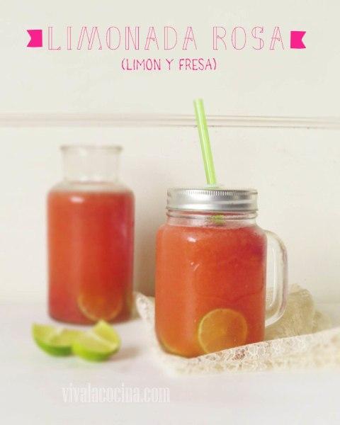 Limonada rosa: limonada de fresa