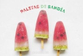 Polos de Sandía. Paletas Heladas de Frutas, un Postre Fácil y Sano
