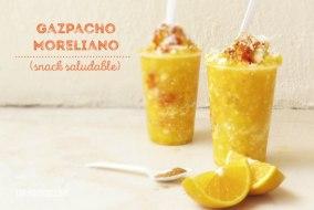 Gazpacho Moreliano. Snack Saludable y fresco. Receta fácil