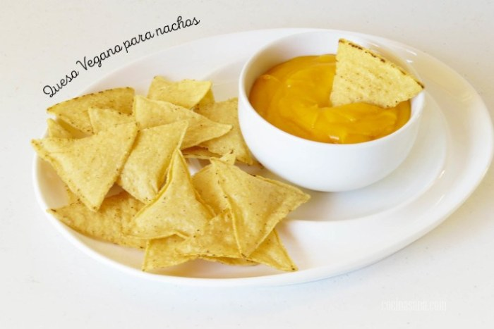 queso vegano para nachos