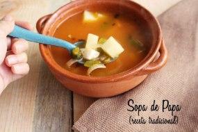 Sopa de Papa o Patatas: Receta Sencilla, rápida y deliciosa para el invierno