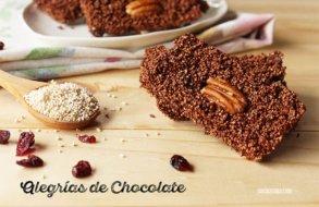 Alegrías de Chocolate. Postre rápido con Amaranto, Nueces y Arándanos