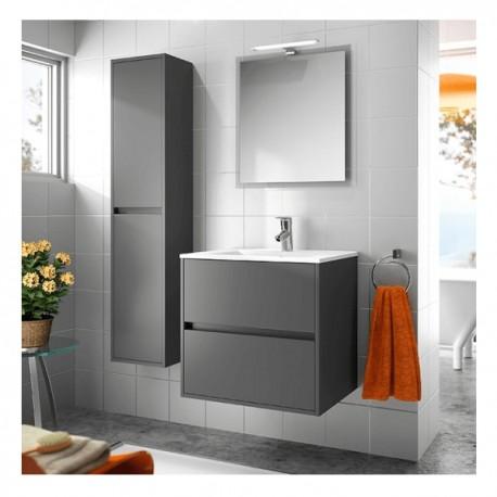 Muebles  lavabo 2 cajones blancoroble graffito 60cm