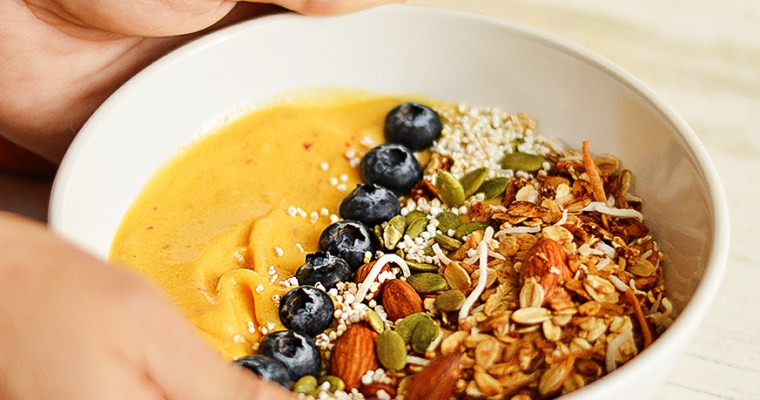SMOOTHIE BOWL DE MANGO Y DURAZNO