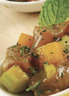 ceviche de atún y melón