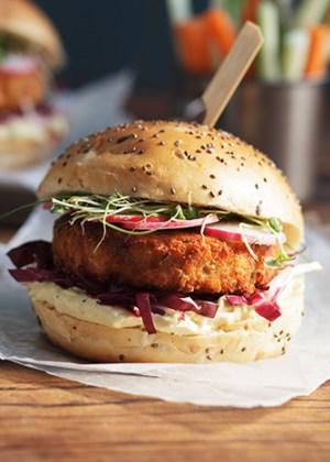 hamburguesa de salmon