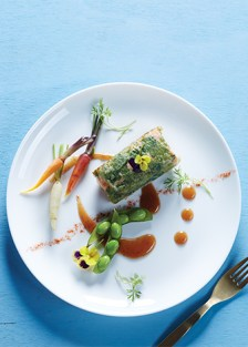 Receta de salmón con hoja de arroz