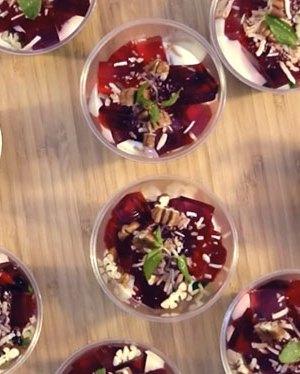 gelatina de mosaico en vasitos