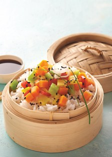 arroz oriental con verduras