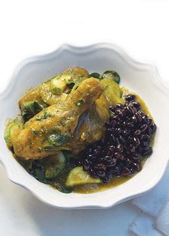 pollo con verdolagas en salsa verde