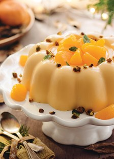 Receta de gelatina cremosa de mandarina y pistache