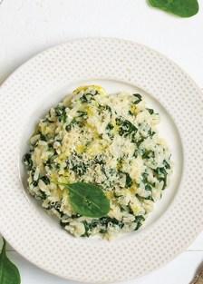 arroz cremoso con espinaca