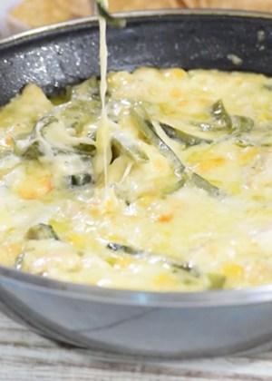 queso fundido con rajas de poblano
