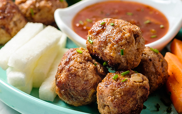 Receta de Bolitas de carne molida en salsa agridulce