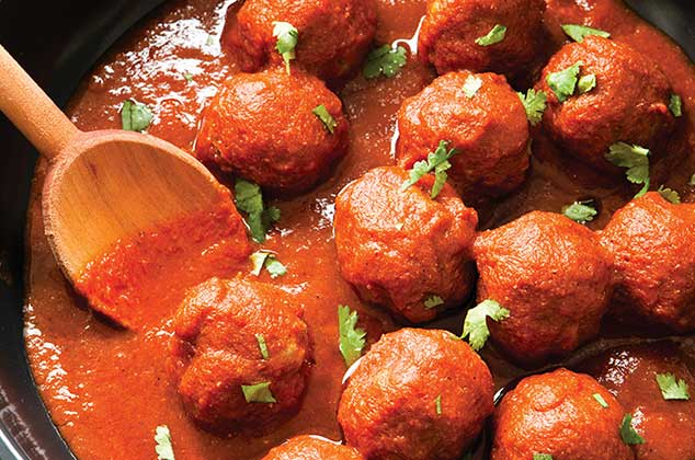 Albndigas en salsa de chile morita  Cocina Vital