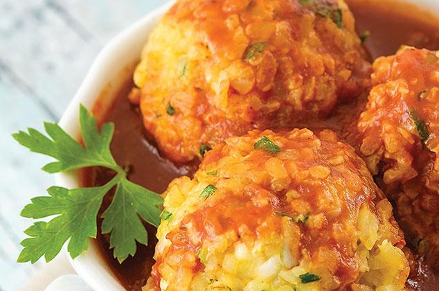 Albndigas veganas de trigo con salsa de chipotle  Receta