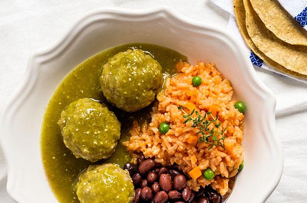 Receta de Albndigas en salsa verde con carne de res
