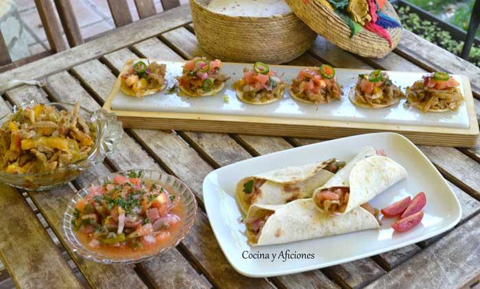 Tinga carne preparada con una antigua receta mexicana