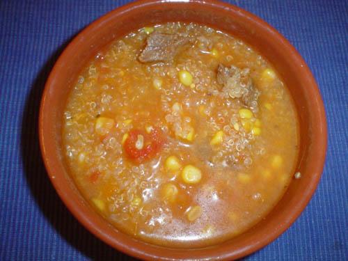Guiso de quinoa  comida sana