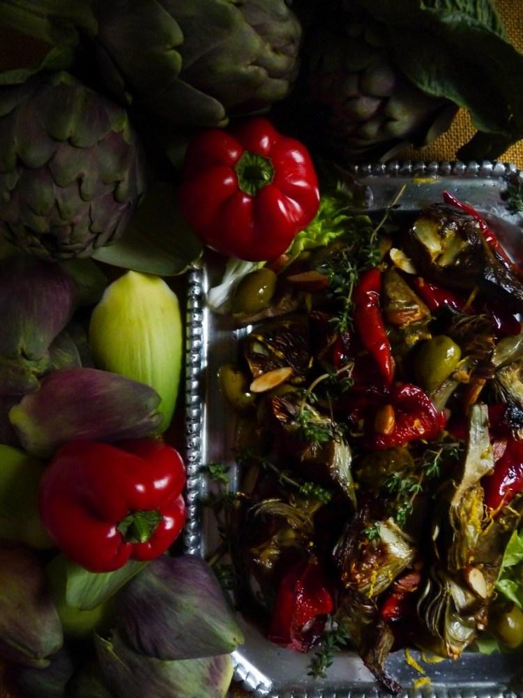 Alcauciles, alcachofas, carciofi, artichokes, artichaut, Cynara scolymus…