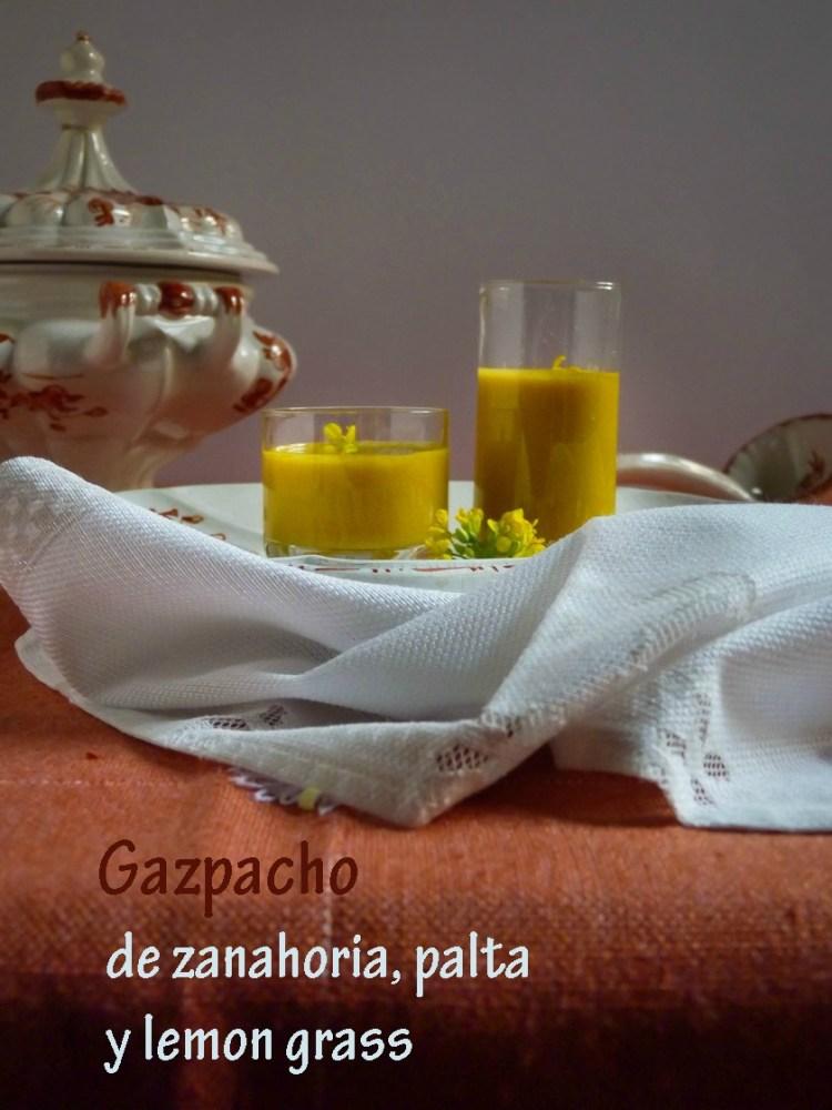 Gazpacho de zanahoria, palta y lemon grass