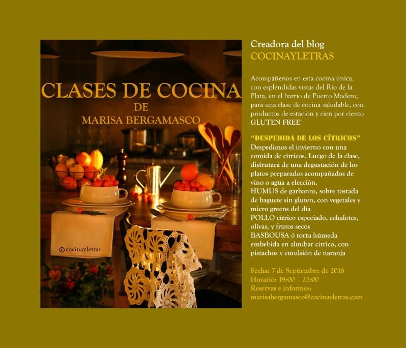 Ciclo de clases de cocina – comienzo 7 de septiembre