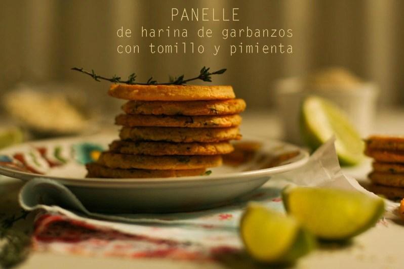 «Panelle» de harina de garbanzos, con tomillo y pimienta