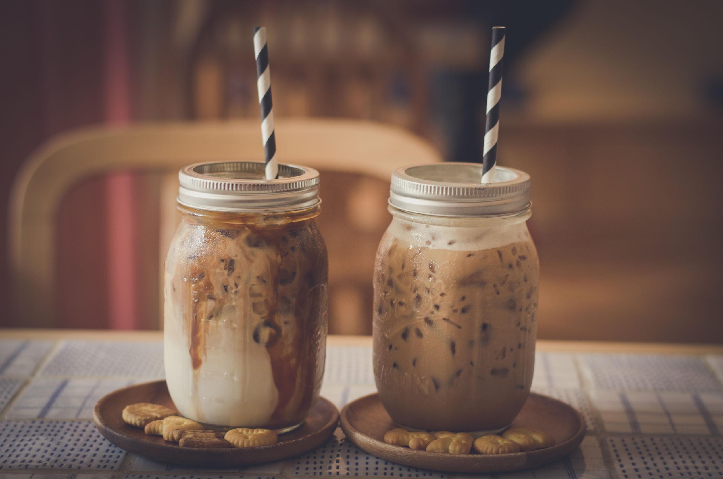 Refrescante caf helado con coco  Cocina y Vino