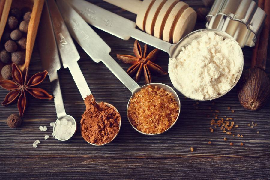 Utensilios para medir correctamente los ingredientes