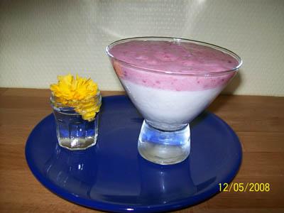 Bavarois pannacotta vanille fraise