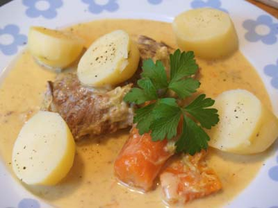 blanquette à la normande © cocineraloca.fr