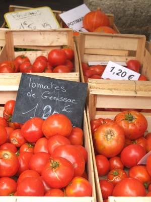 De vraies tomates bien goûtues, au marché de Libourne