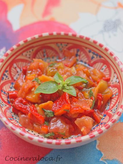 salade de poivrons et tomates grillés
