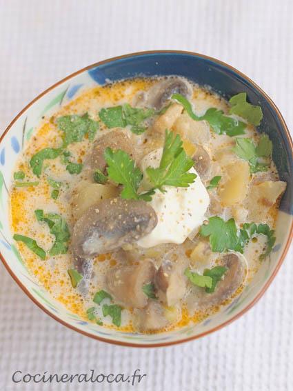 Soupe au champignons polonaise 2 ©cocineraloca.fr
