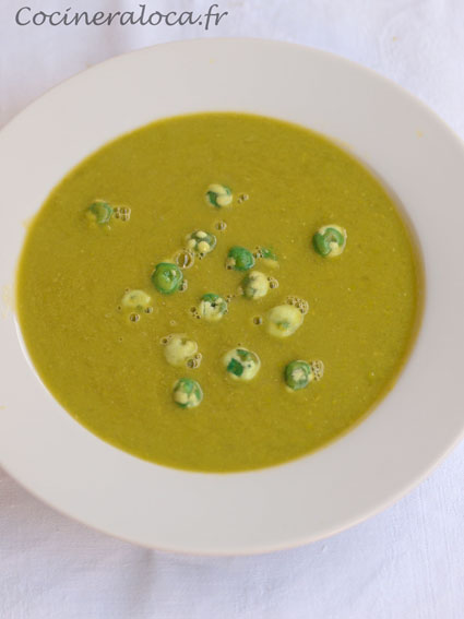 soupe aux pois wasabi ©cocineraloca.fr