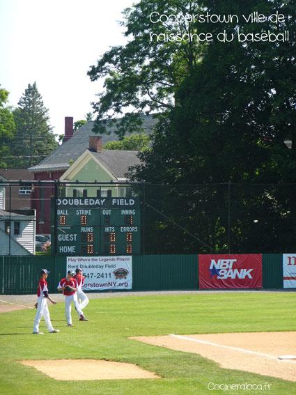 Terrain de Baseball à Cooperstown ©cocineraloca.fr