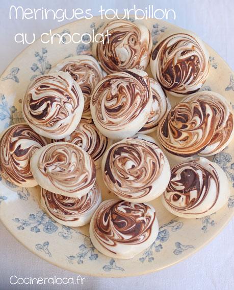 Meringues tourbillon au chocolat ©cocineraloca.fr