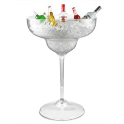 Chair Covers And Sashes To Hire Retro Table Chairs Ice Buckets & Stands: Giant Margarita Glass Tub