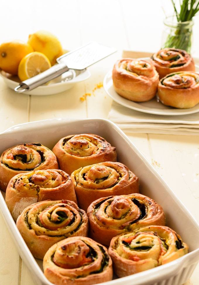 smoked salmon and cream cheese chelsea buns