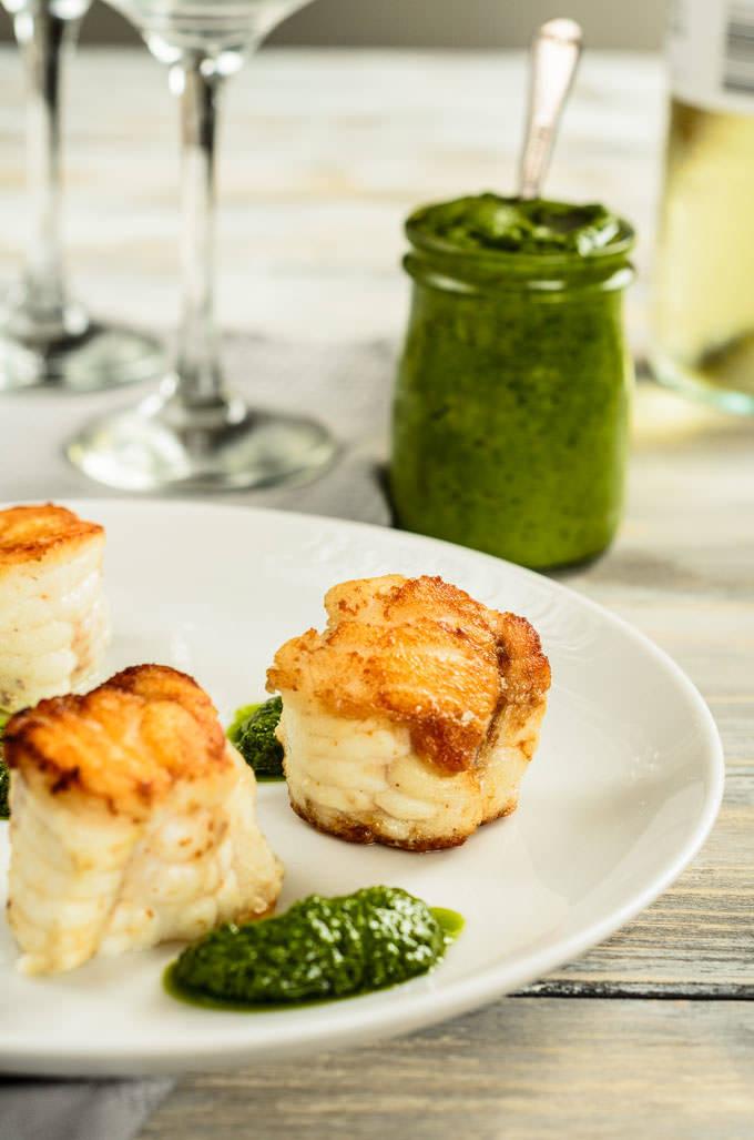 monkfish salsa verde