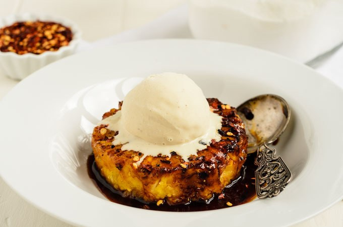 Caramelized Spiced Pineapple With Vanilla Ice Cream-7